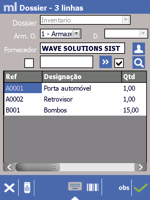 Mobile Logistic ecrã - Wave Solutions