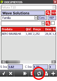Mobile Sales ecrãs - Wave Solutions